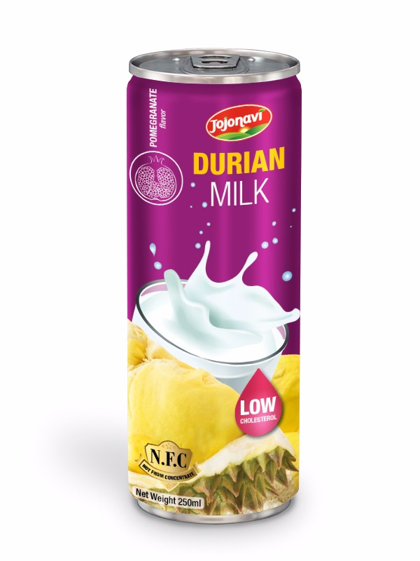 Beverage Exporter Fruit juice producer Durian juice with pomegranate flavour for alu can 250ml HACCP, FDA, HALAL, ISO 2000 Certification.jpg