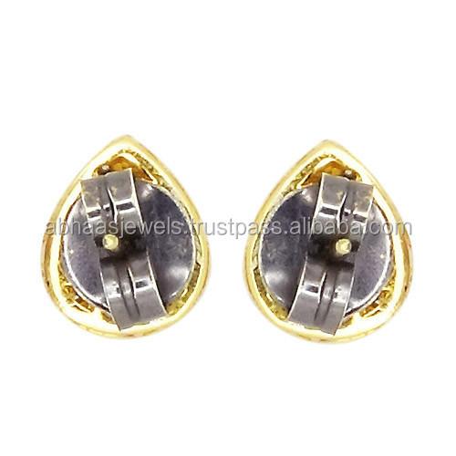 Rose Earring Rose Cut Diamond Stud Earrings
