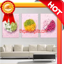 abstract oil painting for living room 3d flower style