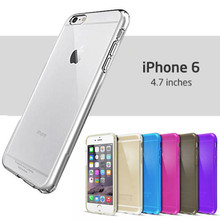 7 Colors - 0.3mm Ultra-Slim Transparent Crystal Clear Thin Gel TPU Flexible Cover for iPhone 6 USA, Los Angeles Wholesale