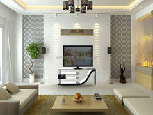 M121 LCD TV Stand MDF Luxury high-gloss Bent HPL Bracket ready Tempered glass Two closets cheap
