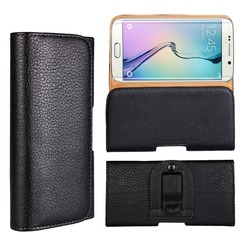Holster wallet cover leather case for Samsung, for Samsung S6 Edge