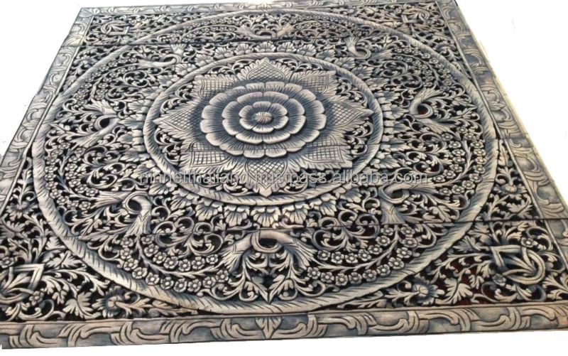 Carved Wood Panels Wall Art   Buy Wood Carving,Teak Wood Carving ...