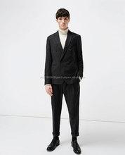Nova chegada de design de moda homens baratos terno 100% lã terno para homens na moda terno de negócio