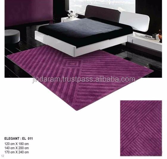 Classy handtufted cotton carpets for hotels.jpg