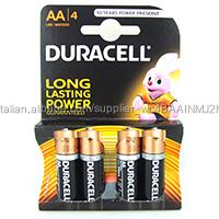 Duralock Duracell Alcaline AA Batterie confezione da 4