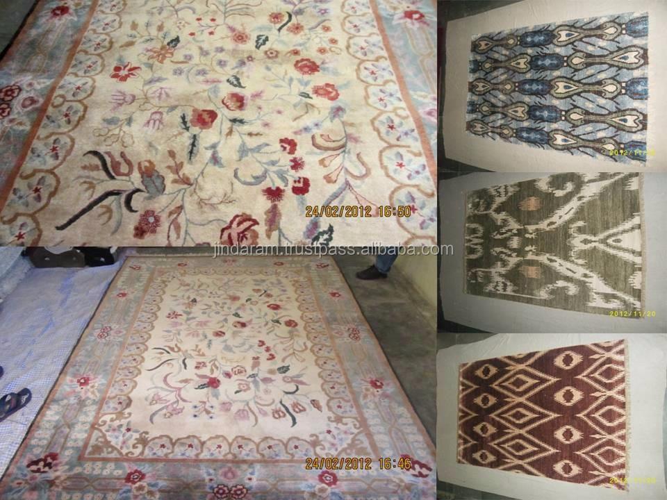 Traditional Indian handtufted carpets .JPG