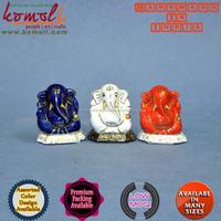 Wedding Gift Ganesha Ceramic Goldline Blue - hindu god ganesh statue - ganesh murti - ganesha gift marble hindu god statues