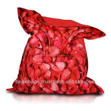 New printed cotton canvas 140*180cm square beanbag