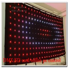 P16 led video curtain custom pitch for stage show backdrop