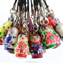A Russian matryoshka mobile pendant, nesting doll phone pendant, AT