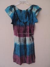 Cap sleeve design child baby kids cotton new girls summer frock / Kids party wear dresses for girls