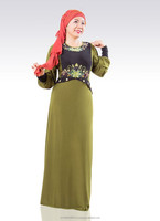 Jubah modern newest design with mix colors and embroidery