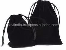 black cotton laundry bag