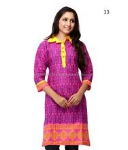 Senhoras impresso Kurti on line a preço de atacado | atacado roupas indianas
