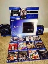 De vendas para o novo mais recente Play Station 4 PS4 500 GB console + 15 jogos grátis e 2 controlador sem fio