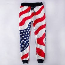 2015 New Trendy sales American Flag Jogger pants Men jogging pants white sweatpants men women spring trousers