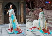 PURE BEMBERG GEORGETTE WITH EXCLUSIVE DESIGNER PRINT WITH FOIEL PRINT