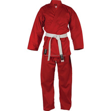 Kids collection and design red BJJ Adult high quality 100% cotton pearl weave fabric BJJ gi