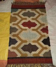 luxury Indian Handloom Kilim Design Jute Wool Wedding Rugs/High Quality Masjid Prayer Outdoor Mosque Carpet/Decorative Products