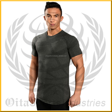 95% cotton 5% elastane round neck & short sleeves slim fitted charcoal grey fitness bodybuilding gym t-shirt tee S-5XL