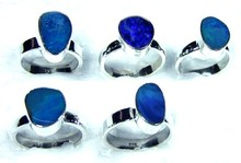 Free Size Gemstone 5 pcs. Lot 925 Sterling silver Handmade Opal Designer Ring Value Pack From India-JVR032