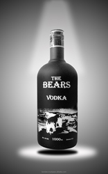 THE BEARS VODKA, 40%vol., black