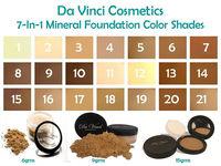 DA VINCI COSMETICS Loose foundation Powder / mineral makeup / hypoallergenic makeup, Sunscreen