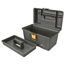 "Elenco C-580, Plano 16"" Extra Deep Tool Box, Graphite Gray with Iron Yellow"