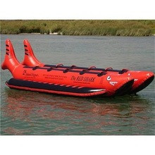 DISCOUNT PRICE FOR New Aqua Sports Dual Direction Banana Boat, Red, 10 passenger, 17' L x 8' W