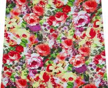 "Floral Print Fabric Craft White Apparel Dress Cotton Poplin 43""Width FBC2737"
