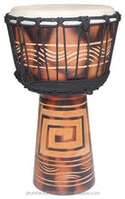 Entry Level Series Djembe DJZC-B4, wood hand drum, percussion music instrument.