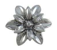 Acrylic Flower Accessories UV plating double-hole 27x30x11mm Hole:Approx 1.5mm Sold By PC