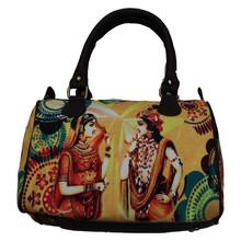 Fancy Wholesale Cute Newest Fashion canvas Radha Krishan Digital Print Bags Handbags For Ladies Fashion Women Tote Shoulder Bag