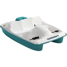 Water Wheeler Five Person Pedal Boat in Cream - Aqua, No Stainles ...