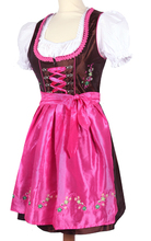 Custom Midi Dirndl with blouse & apron / Trachten Dirndl Dress / Traditional Bavarian