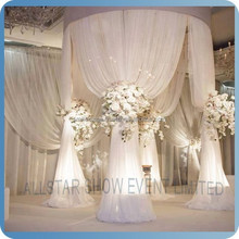 China wholesale pipe and drape wedding stage decoration with flowers