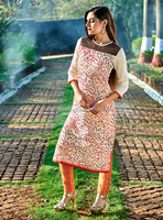 Lucknow Chikan Kurta | Lucknow Chikan Embroidered Kurti | Kurtis With Embroidered Work