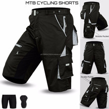 MTB Cycling Short Off Road Cycle CoolMax Padded Liner Shorts