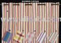 Baumwolle duschvorhänge, Öse vorhänge, gardinen, bedruckten vorhängen, streifen vorhänge