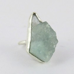 Best Deal Today !! Aquamarine 925 Sterling Silver Ring, Wholesale Handmade Designer Silver Jewelry From India