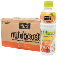 Minute Maid Nutriboost Orange Botol Plastik 300ml x 24 pcs