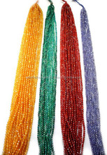 Natural Cubic Zircon Multi Colour 4mm Round Faceted Loose Beads Strand
