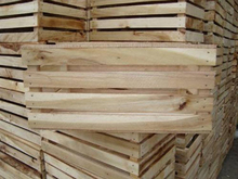 customized Wooden fruit crate made from square edge smooth 4 side brown Vietnam hardwood