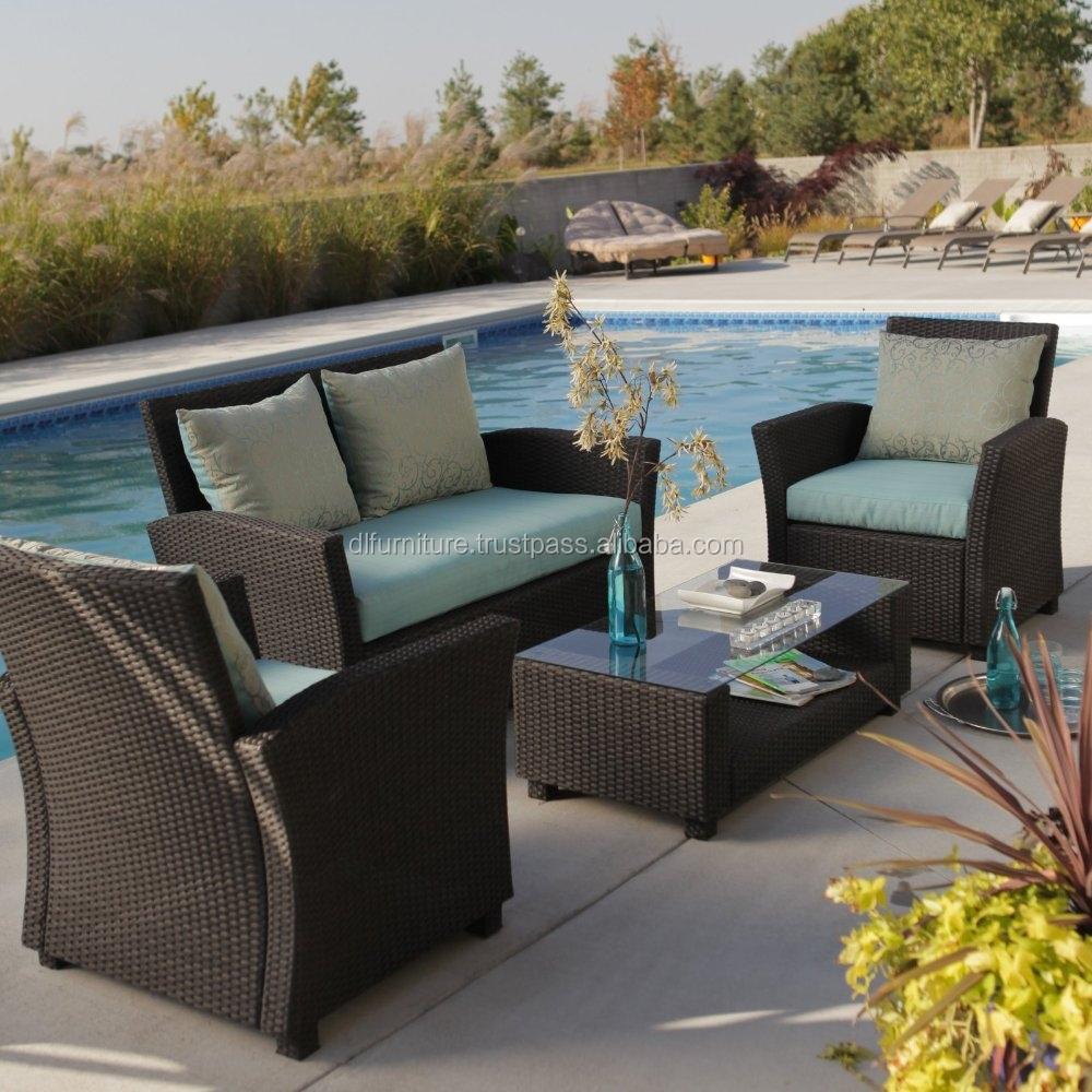 Top Sales 2015 Nice Weaving Outdoor Wicker Garden Sofa 2 Seat From Vietnam Su