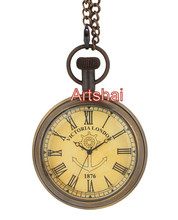 Artshai victoria london nautical anchor design pocket watch