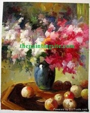 Beautiful flower oil painting canvas diy painting draw by number 40*50cm