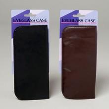 EYEGLASS CASE FLAT W/CLIP BLACK OR BROWN/12PC MERCH-STRIP #G14514CS