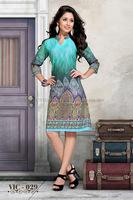 Cotton Kurti Design   Indian Kurti Online   Front Neck Designs For Kurtis
