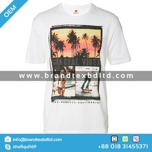 Men's White Color casual photo Printed tshirt high quality OEM Custom Latest Design Exclusive promotional cheap tee